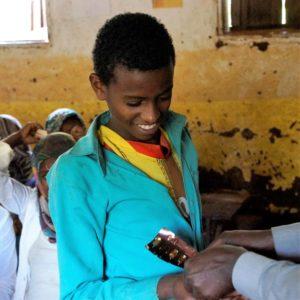 Entwurmung Projekt in der Schule Bufeta Gibe