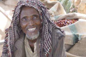 Muhammad repute pour etre le meilleur producteur de notre cooperative de cafe de Bufeta Gibe