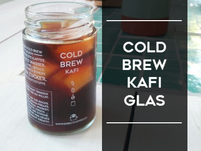Cold Brew Coffee Glass