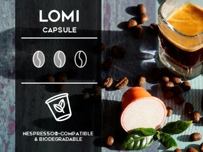 Lomi Nespresso compatible biodegradable capsule