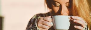 Kaffee geniessen am Morgen